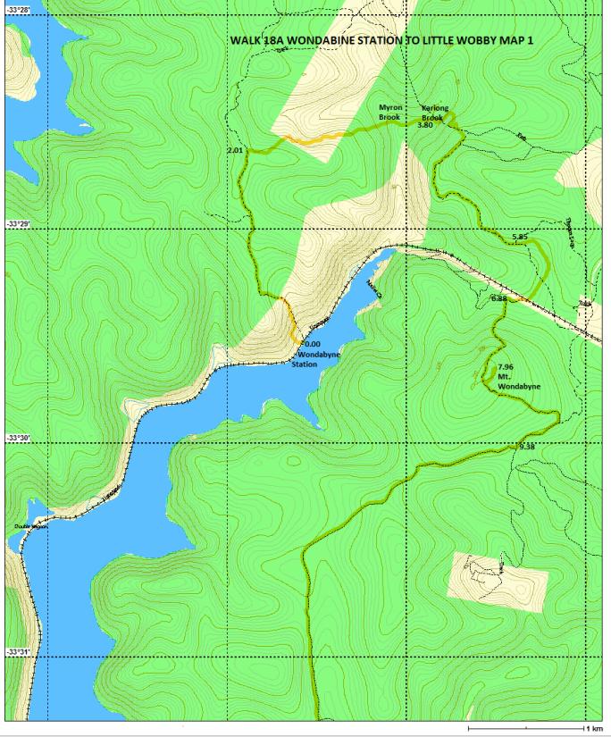 Walk 18A Map 1